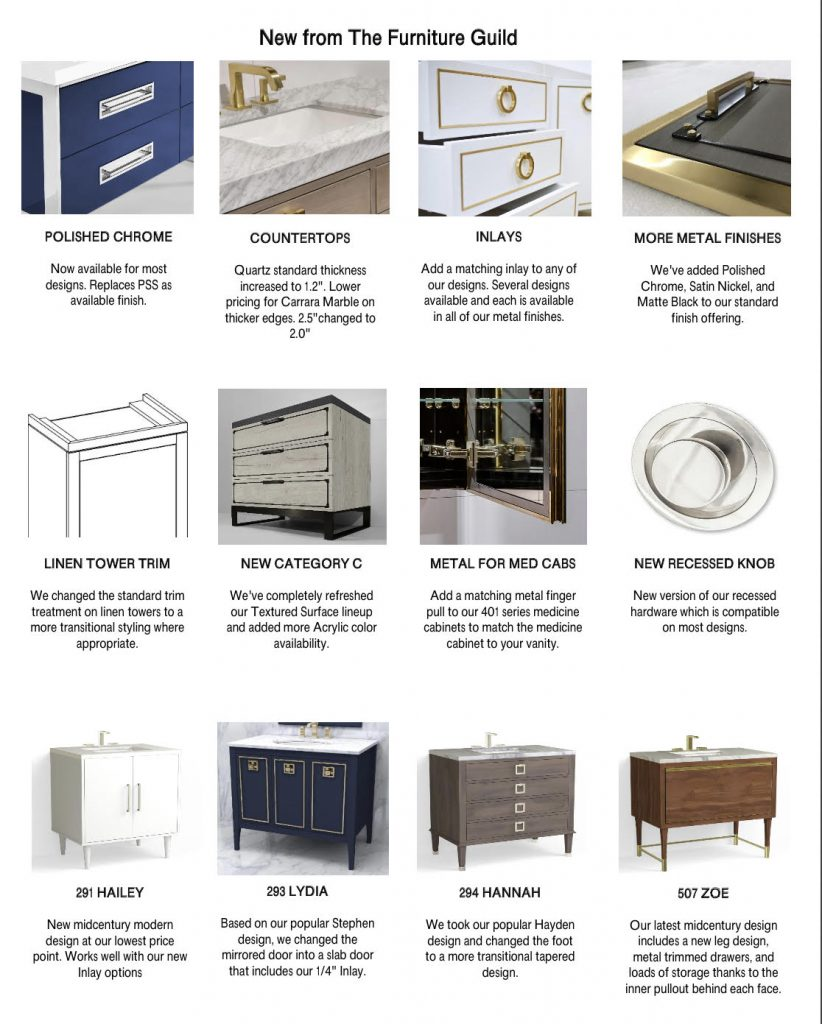 The Furniture Guild New Vanities